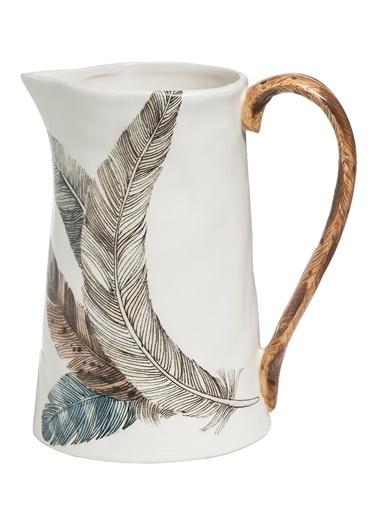 Warm Design Tüy Desenli Sürahi Beyaz